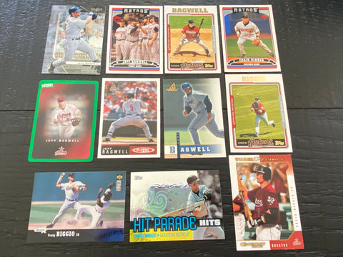 HOF Bagwell & Biggio Lot of 11 - Astros