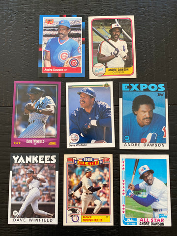 Dave Winfield & the Hawk Lot of 8