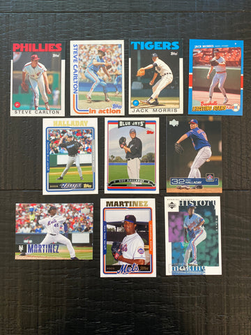 HOF Pitchers Lot of 10 - Carlton, Martinez, Morris