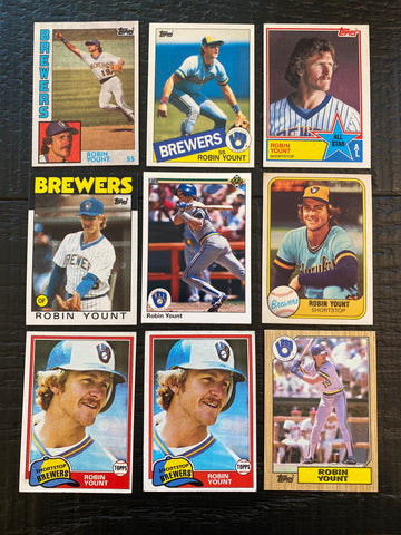 Robin Yount lot of 9 - Brewers all the way