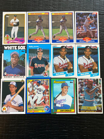 Rookie lot of 12 - Bonilla, Sheffield, Justice