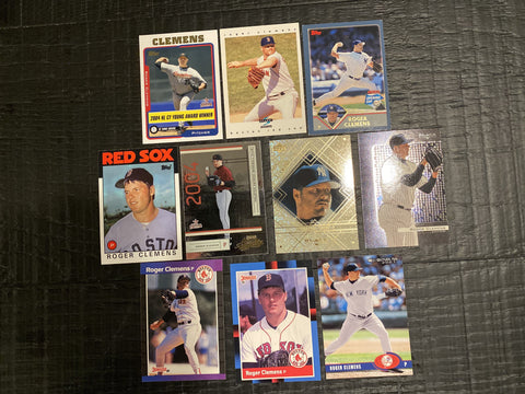 Roger Clemens lot of 10