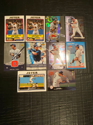 Derek Jeter lot of 10 - New York Yankees