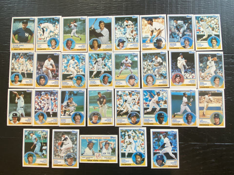 1983 Topps Team Set 29/34 - Yankees