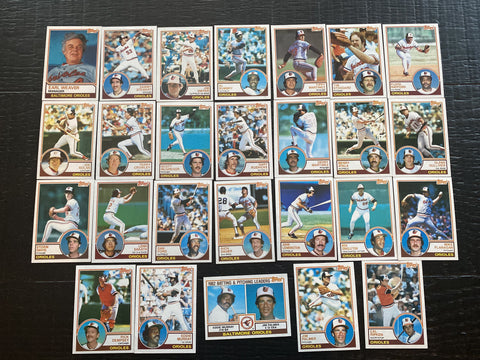 1983 Topps Team Set 26/27 - Orioles - Ripken, Palmer, Murray