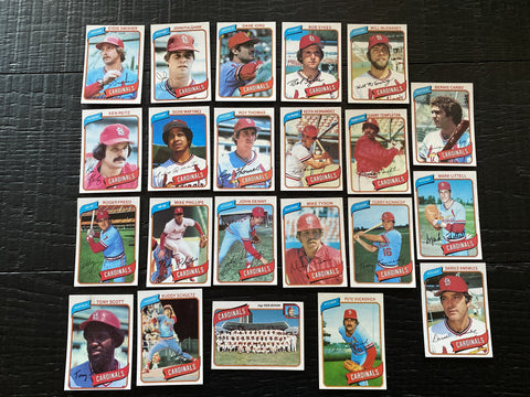 1980 Topps Baseball St.Louis Cardinals Team Lot 22/29 Cards No Dupes