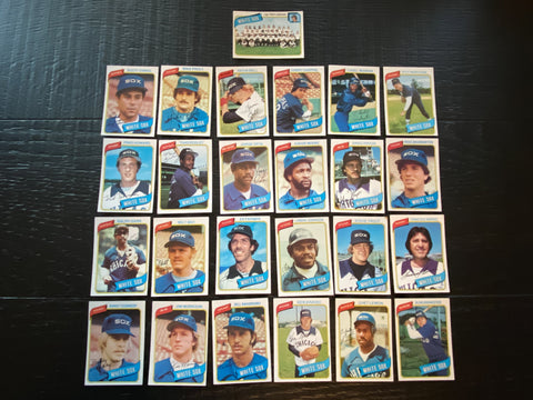 1980 Topps Baseball Chicago White Sox Team Lot 25/27 Cards No Dupes