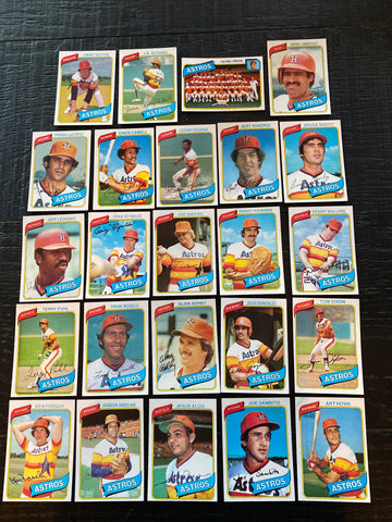 1980 Topps Baseball Houston Astros Team Lot 24/31 Cards No Dupes