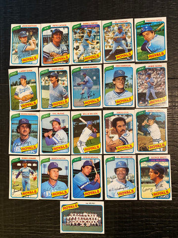 1980 Topps Baseball Kansas City Royals Team Lot 21/29 Cards No Dupes - Brett