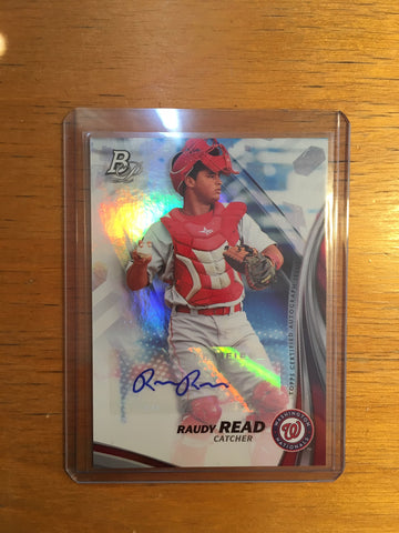 2017 Bowman Platinum Top Prospects Autographs #TPRR Raudy Read