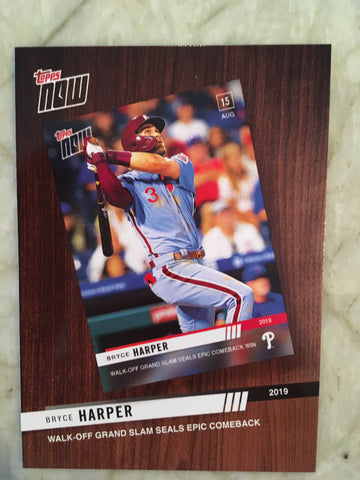 2020 Topps '19 Topps Now Review #TNR8 Bryce Harper