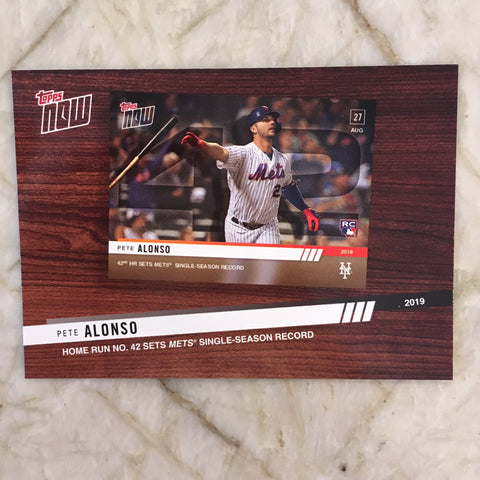 2020 Topps '19 Topps Now Review #TNR9 Pete Alonso