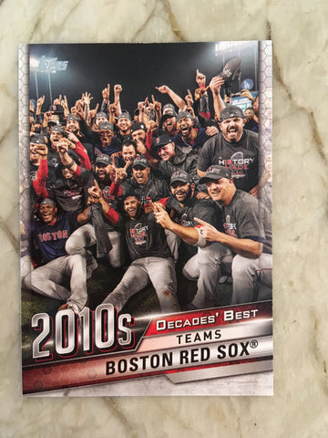 2020 Topps Decades Best DB-81 Boston Red Sox - Boston Red Sox