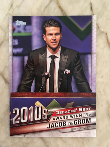 2020 Topps Decades Best DB-95 Jacob DeGrom - New York Mets