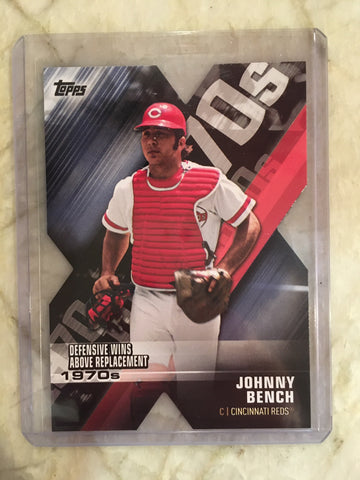 2020 Topps Series 1 Decade Of Dominance Blue DOD-20 Johnny Bench - Reds