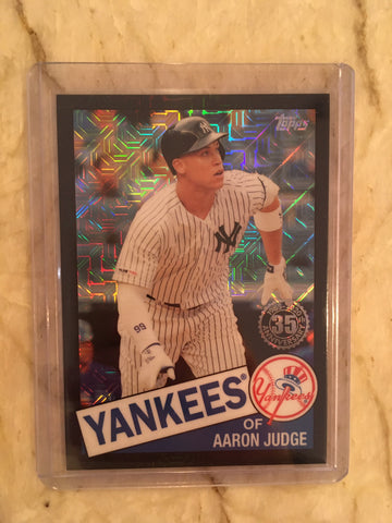 2020 Topps Series 1 Aaron Judge #85C-27 Silver Pack 1985 Black 104/199 - Yankees