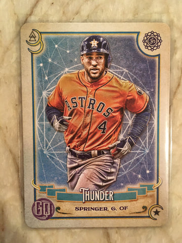 2020 Topps Gypsy Queen Tarot of Diamond #TOD-13 George Springer - Astros