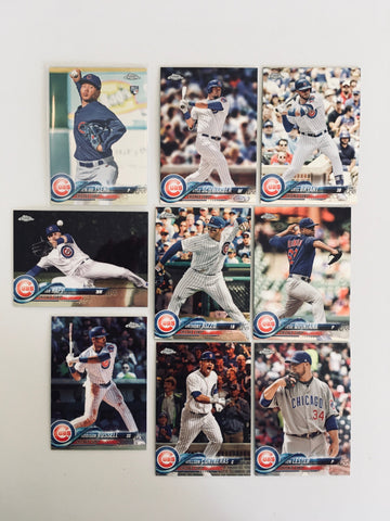 2018 Topps Chrome Cubs Team Set (9 Cards)