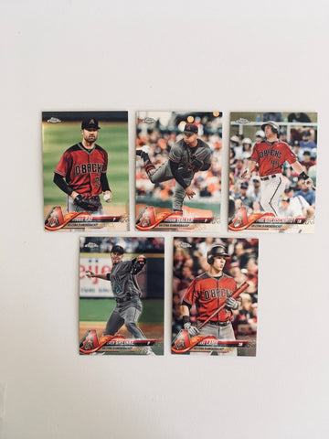 2018 Topps Chrome Diamondbacks Team Set (5 Cards)