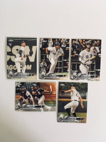 2018 Topps Chrome White Sox Team Set (5 Cards)
