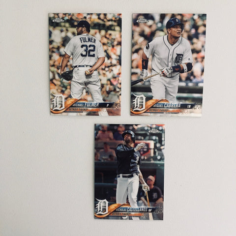2018 Topps Chrome Refractors Tigers Team Set (3 Cards)