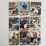 2018 Topps Chrome Astros Team Set (9 Cards)