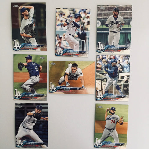 2018 Topps Chrome Base Dodgers Partial Team Set (8 of 10 Cards) No Bueller/Verdugo