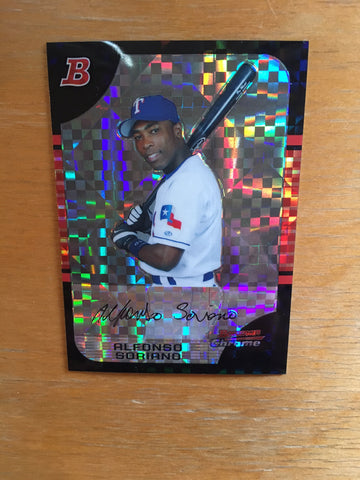 2005 Bowman Chrome X-Fractors #115 Alfonso Soriano - Rangers - 145/225