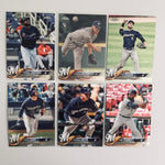 2018 Topps Chrome Refractors Brewers Team Set (6 Cards) Woodruff RC