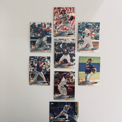 2018 Topps Chrome Mets Team Set (8 Cards) RCs included
