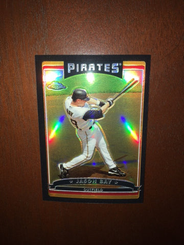 2006 Topps Chrome Black Refractors #132 Jason Bay 290/549 - Pirates
