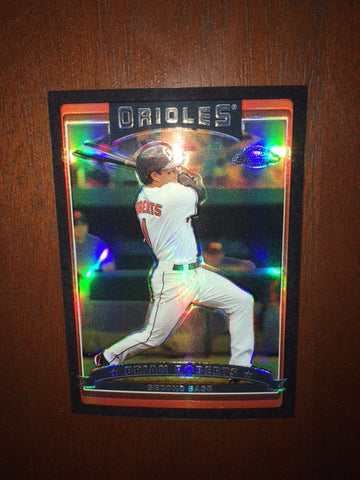 2006 Topps Chrome Black Refractors #6 Brian Roberts 100/549 - Orioles