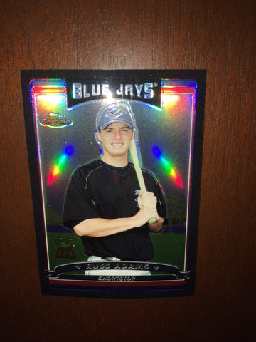 2006 Topps Chrome Black Refractors #68 Russ Adams 360/549 - Blue Jays
