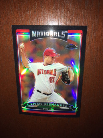 2006 Topps Chrome Black Refractors #153 Livan Hernandez 285/549 - Nationals