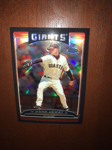 2006 Topps Chrome Black Refractors #95 Noah Lowry 043/549 - Giants