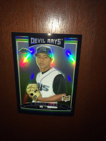 2006 Topps Chrome Black Refractors #286 Ruddy Lugo 319/549 - Rays