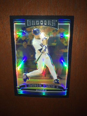 2006 Topps Chrome Black Refractors #54 Jayson Werth 368/549 - Dodgers