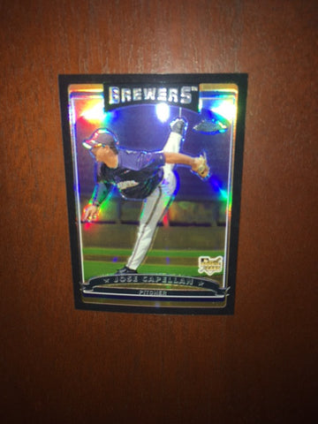 2006 Topps Chrome Black Refractors #316 Jose Capellan 048/549 - Brewers