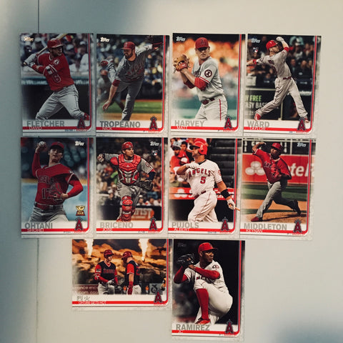 2019 Topps Series 2 Team Set Angels (10 Cards)