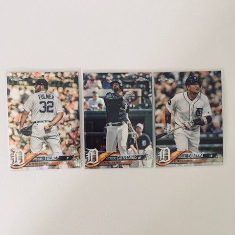 2018 Topps Chrome Prism Team Set Detroit Tigers (3 Cards)