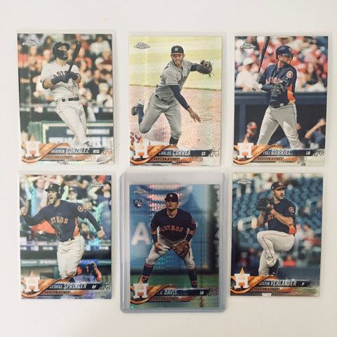2018 Topps Chrome Prism Team Lot  Houston Astros
