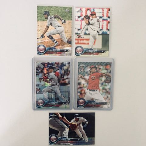 2018 Topps Chrome Prism Team Lot  Minnesota Twins Granite RC