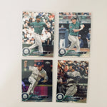 2018 Topps Chrome Prism Team Set Seattle Mariners (4 Cards)