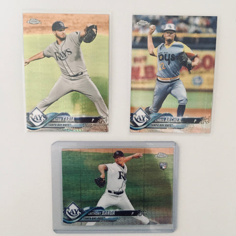 2018 Topps Chrome Prism Team Lot  Tampa Bay Rays Banda RC