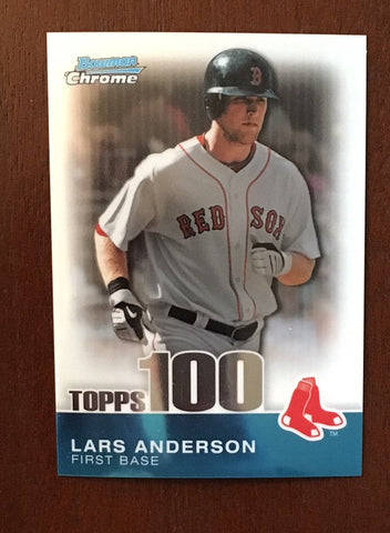 2010 Bowman Chrome Topps 100 Prospects #TPC69 Lars Anderson 613/999