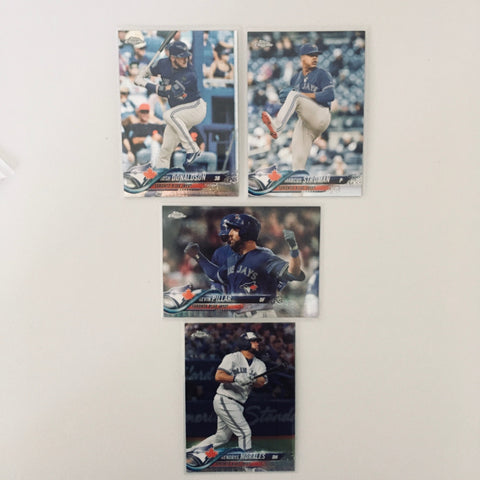 2018 Topps Chrome Prism Team Lot  Toronto Blue Jays