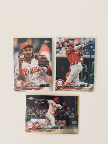 2018 Topps Chrome Refractors Phillies Team Lot