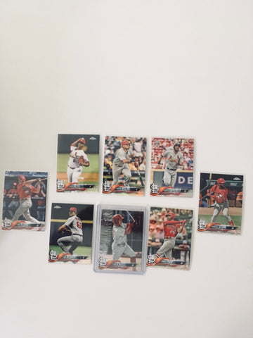 2018 Topps Chrome Refractors Partial Team Set (8 of 10)  St. Louis Cardinals