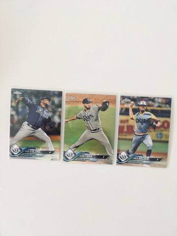 2018 Topps Chrome Refractors Team Lot Tampa Bay Rays