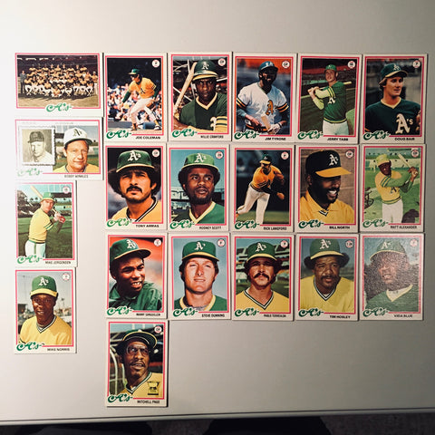 1978 Topps Baseball Oakland A's Team Lot 20/26 Cards No Dupes